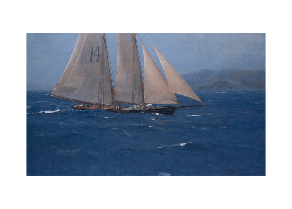 Pilot Schooner 'Pathfinder' Approaching the Golden Gate
